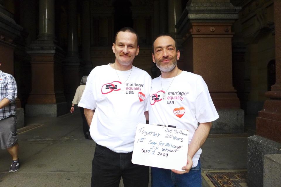 Philadelphia Bill and Bob (first VT civil union)