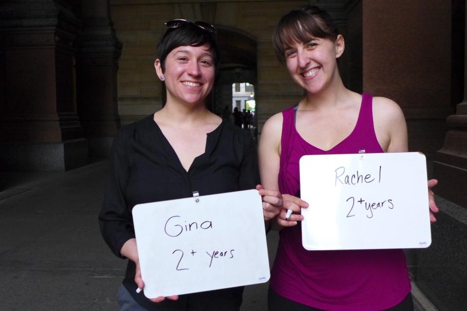 Philadelphia Gina and Rachel #oy