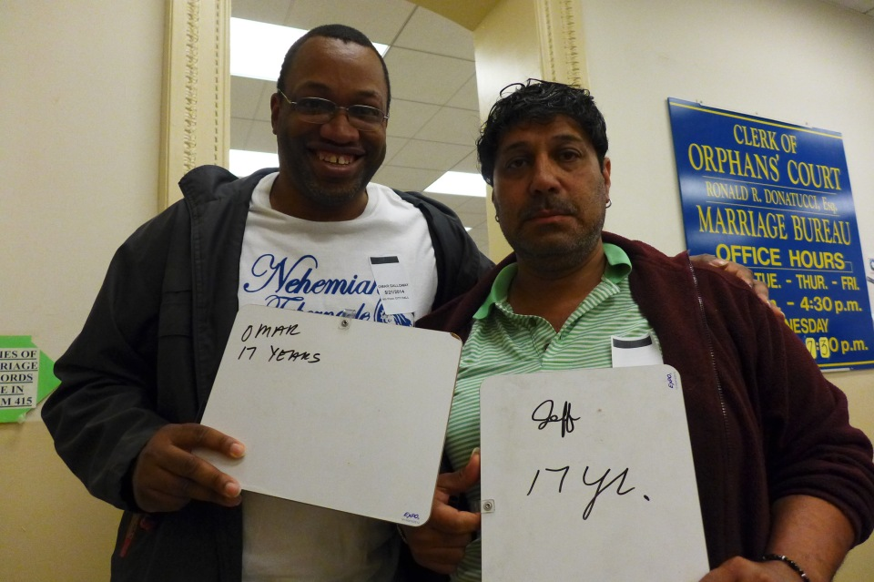 Philadelphia Jeff and Omar #oy (lousy photo)