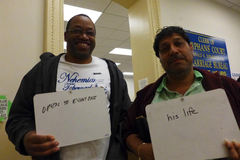 Philadelphia Jeff and Omar show us (lousy photo)