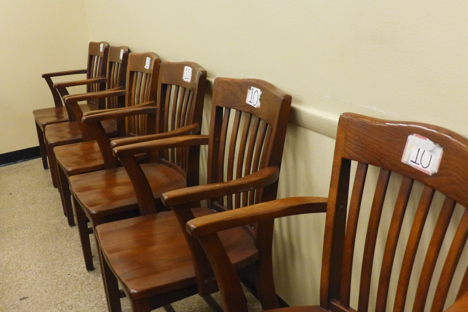 Philadelphia Orphan's Court numbered chairs