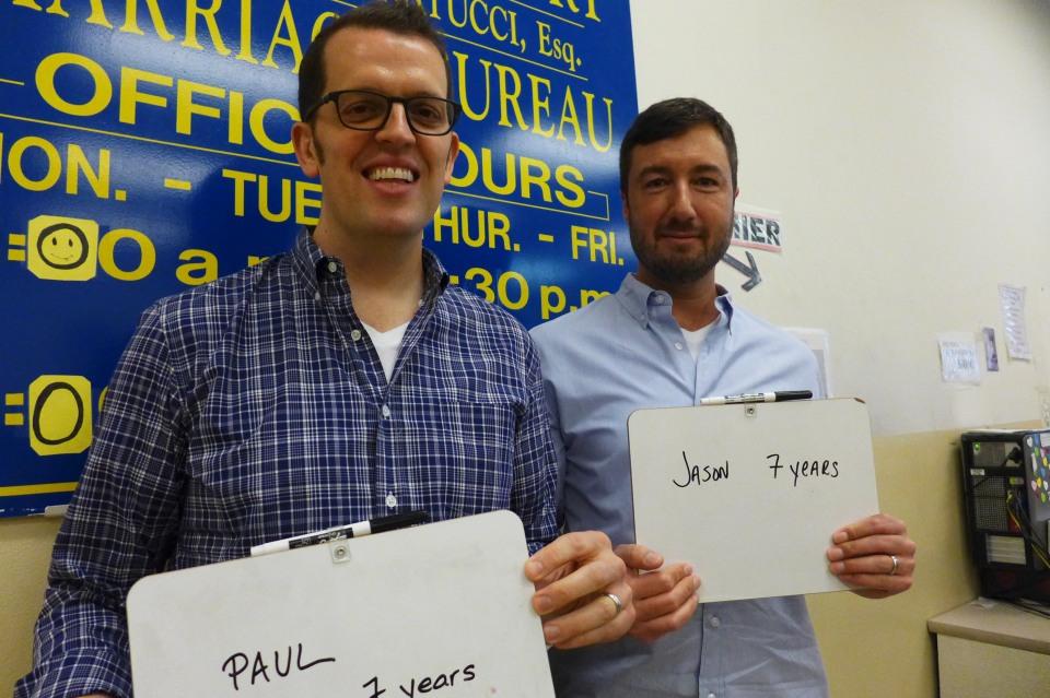 Philadelphia Paul and Jason (they're flight attendants) #oy