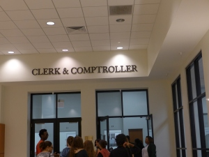 Clerk & Comptroller office sign