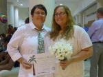 Denise and Stacy show me marriage license! use!