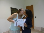 Kandice and Karen kissing with license - use!